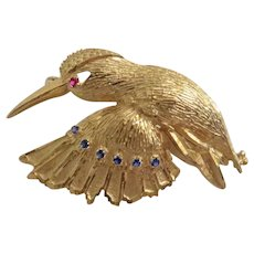 Vintage 14 k yellow gold brooch, ca. 1950