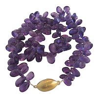 Vintage Amethyst necklace, ca. 1970