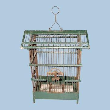 Wood & Wire Bird Cage
