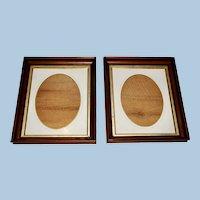 Pair of Walnut Frames with Original Liner Mats, Circa 1870