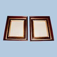 Pair of Deep Walnut and Burl Victorian Frames, Circa 1870