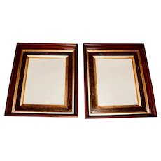 Pair of Deep Walnut and Burl Victorian Frames, Circa 1870