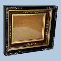 Aesthetic Movement Ebonized Picture Frame, Circa 1880