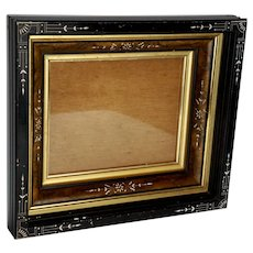 Aesthetic Movement Ebonized Picture Frame, Circa 1880