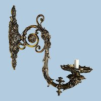Large Vintage Brass Sconce