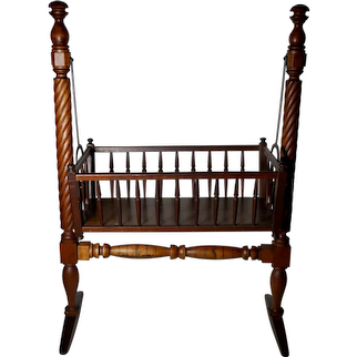 Early Solid Maple Swing Cradle, Circa 1820