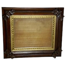 Walnut Victorian Frame in the Adirondack Style