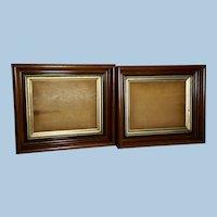 Pair of Victorian Walnut Frames with Original Glass, Circa 1870