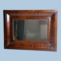 Empire Style Mahogany Ogee Mirror, Medium Sized, Circa 1840