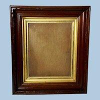 Walnut Victorian Frame with original glass and finish, Circa 1880