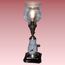 Gas Portable Table Lamp with Porcelain Insert