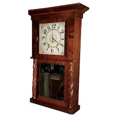 Marshall & Adams Wooden Work Clock