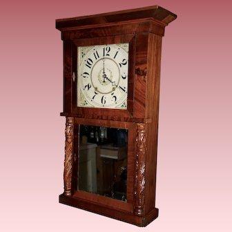 Marshall & Adams Wooden Work Clock