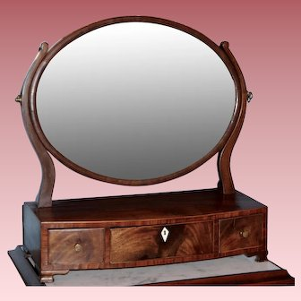 Early Mahogany Chippendale Dressing Mirror