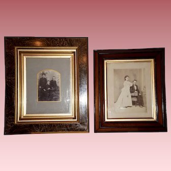 Two Victorian Family Photographs in Original Frames