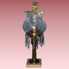 Solar Lamp with Factory Conversion and Period Shade