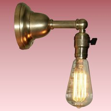 Early Electric Single Socket Industrial Sconce with Edison Bulb