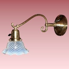 Early Electric Single Socket Sconce with Opalescent Shade