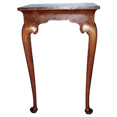 Petite Queen Ann Style Birdseye Maple Hall Table