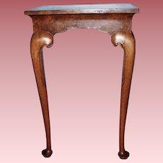 Petite Queen Ann Style Birdseye Maple Hall Table