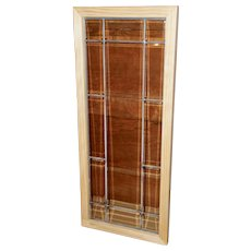 Four First Quarter 20th Century Leaded Glass Window Panels
