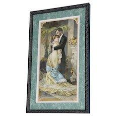 """19th Century Tobacco Crate Lithograph- Caddy Label- """"La Caricia"""", Lot #1"""