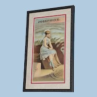 """19th Century Tobacco Crate Lithograph- Caddy Label- """"Josephine"""", Lot #2"""