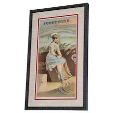 "19th Century Tobacco Crate Lithograph- Caddy Label- ""Josephine"", Lot #2"