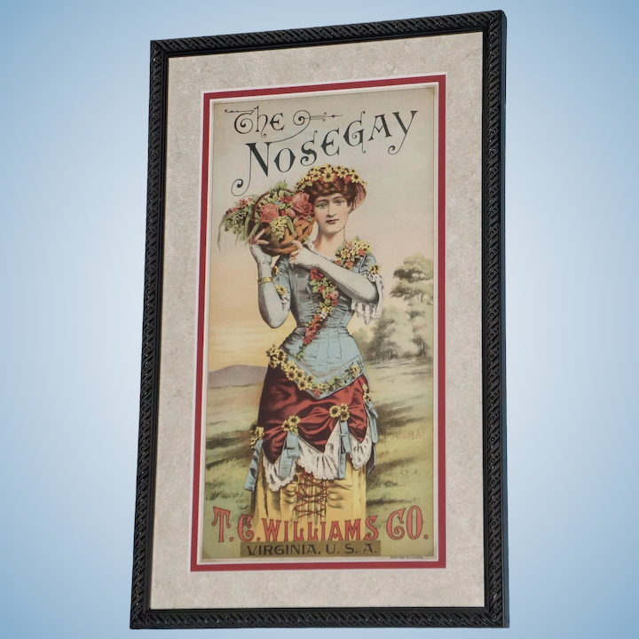 19th Century Crate Lithograph Caddy Label The Nose Lot 3