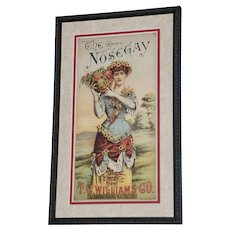 """19th Century Tobacco Crate Lithograph- Caddy Label- """"The Nosegay"""", Lot #3"""