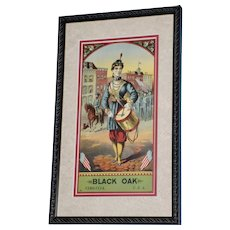 "19th Century Tobacco Crate Lithograph- Caddy Label- ""Black Oak"", Lot #4"