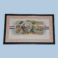 """19th Century Tobacco Crate Lithograph- Caddy Label- """"Fabriek Van Sigaren"""", Lot #6"""