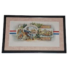 "19th Century Tobacco Crate Lithograph- Caddy Label- ""Fabriek Van Sigaren"", Lot #6"
