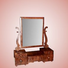 Mahogany Empire Dressing Mirror