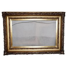 Victorian Gesso Frame with Original Gilded Finish