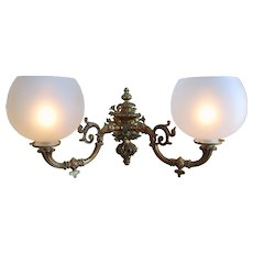 Pair of Henry Hooper of Boston Double Arm Wall Sconces