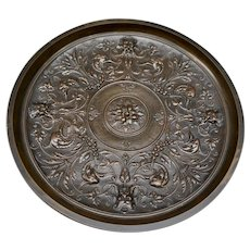 19th Century Bronze Tazza or Calling Card Receiver