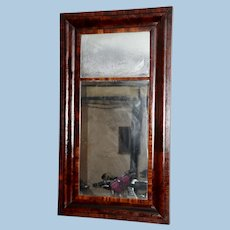 Large Mahogany Empire Ogee Mirror with Original Glass