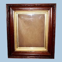 Victorian Walnut Frame with Ormolu Liner Band