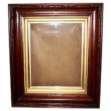 Victorian Walnut Frame with Ormolu Liner Band
