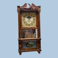 Chauncey & L.C. Ives Column & Cornice Clock, Circa 1831