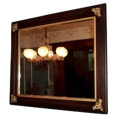Large Late 19th Century Mirror with Original Glass