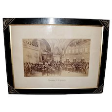 Large 1879 Composite Photograph of The Assembly of N.Y., by Hy Sandham, in a Fabulous Eastlake Frame