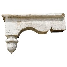 Lot of Nine (9) Acorn Finial Building Corbels, Circa 1860