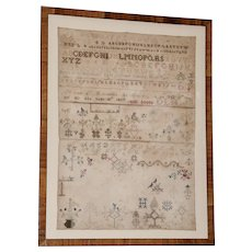 Large American Alphabet Sampler From Cortland County New York, Dated 1837