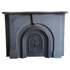 Slate Mantle and Cast Iron Surround From a Brooklyn Brownstone