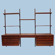 Danish Mid-Century Modern Modular Wall Unit by Poul Cadovius