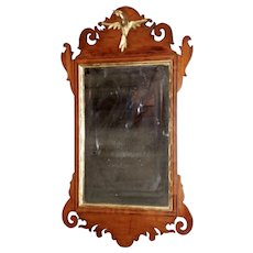 Mahogany Chippendale Mirror with a Carved Bird, Late 18th Century