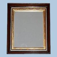 Victorian Walnut Frame with Ormolu Gilt Liner and Ebonized Bands, Frame #1