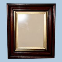 Victorian Walnut Frame with Ebonized Bands and Gilt Liner Band, Frame #2